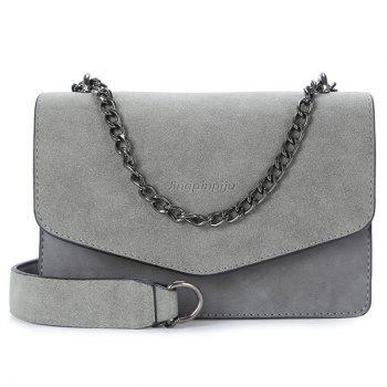 Faux Leather Flapped Cross Body Bag