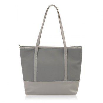 Nylon Panel Shopper Bag