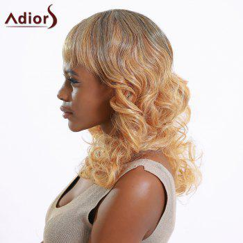 Attractive Women's Medium Fluffy Curly Full Bang Gradient Synthetic Hair Wig - COLORMIX