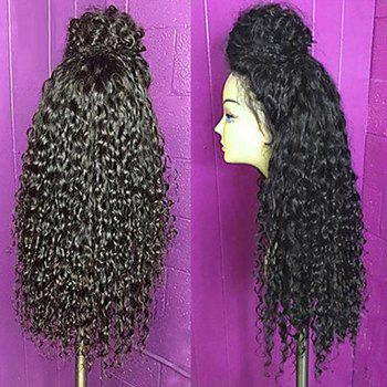 Long Lace Frontal Fluffy Curly Synthetic Wig
