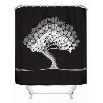 Polyester Waterproof Artistic Tree Bath Shower Curtain