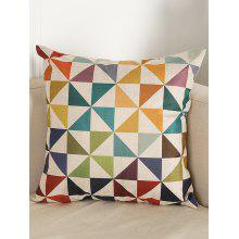 Geometry Pattern Linen Throw Pillow Case
