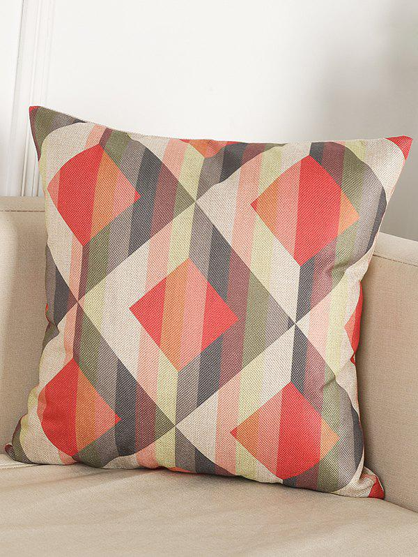 Geometry Pattern Office Seat Cushion Linen PillowcaseHome<br><br><br>Color: COLORMIX