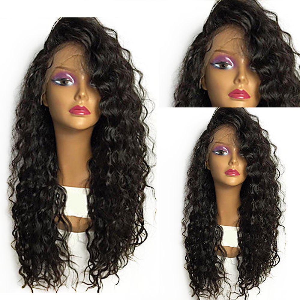 Shaggy Long Curly Lace Front Heat Resistant Fiber Wig - BLACK