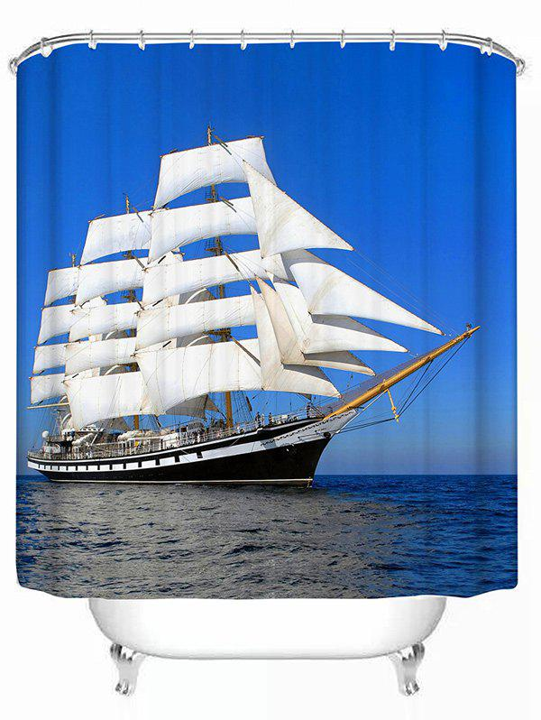 Polyester Waterproof Sea Sailboat Bath Shower Curtain цена 2016