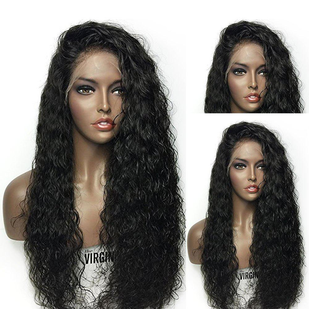 Towheaded Curly Long Synthetic Lace Front Wig long curly green synthetic lace front cosplay party wig