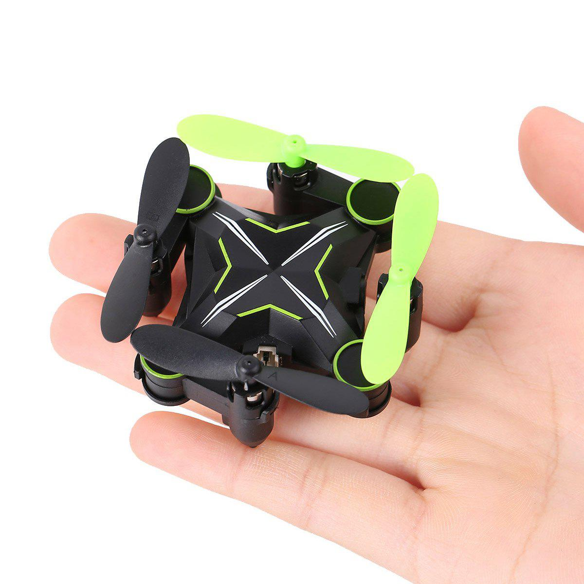 HELIWAY 901H 0.3MP Camera 2.4GHz 6CH 6-axis Gyro Foldable Air Press Altitude Hold Headless Mode QuadcopterHome<br><br><br>Color: CRYSTAL GREEN