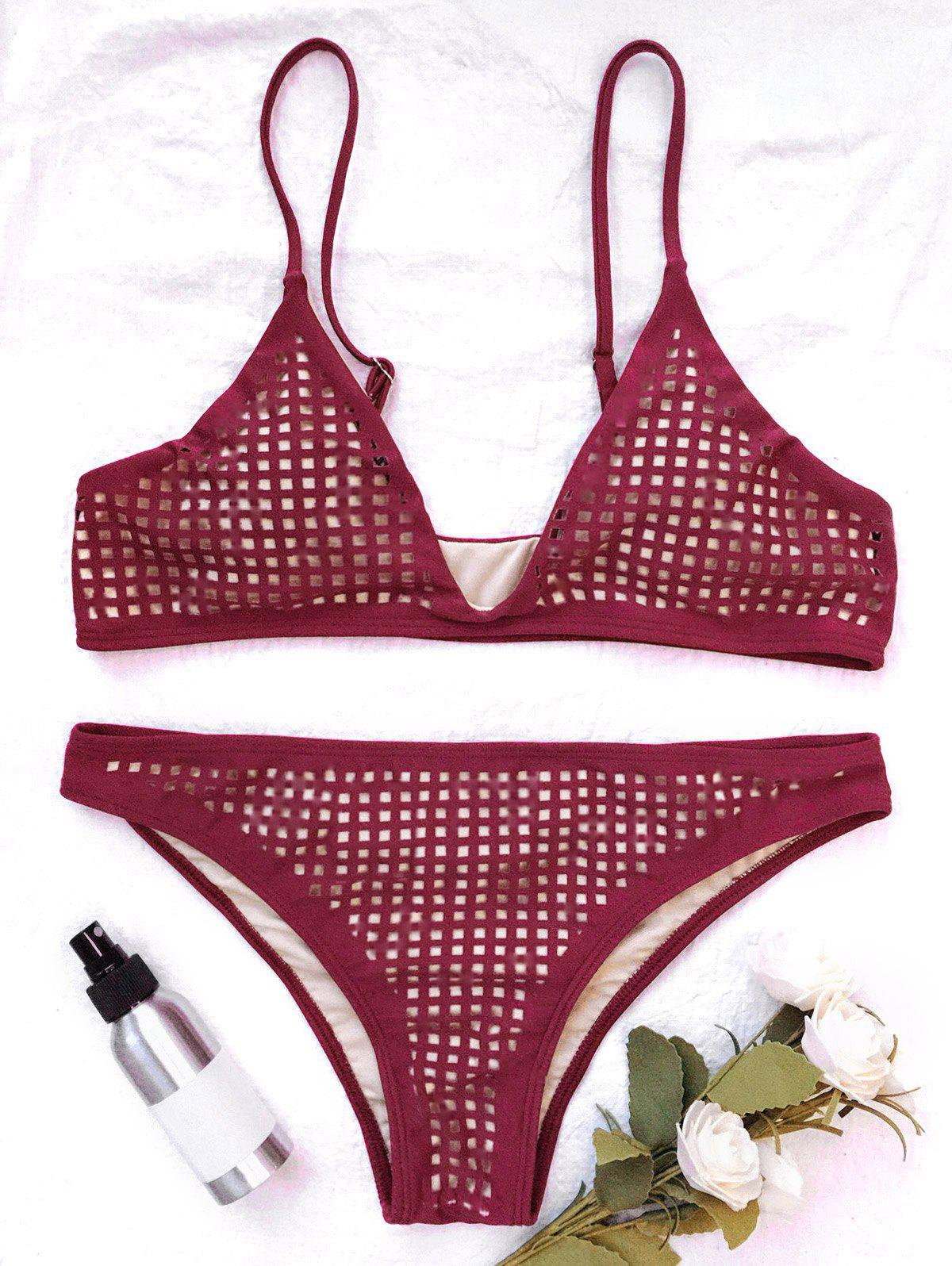Square Cut Out Bikini Top and Bottoms girls cut and sew top
