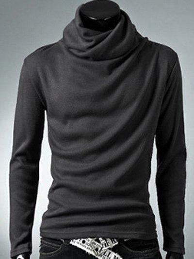 Buy Brief Style Long Sleeve High Neck T-Shirt DEEP GRAY