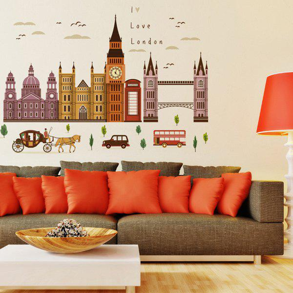 Buy London Big Ben Living Room Wall Stickers COLORMIX