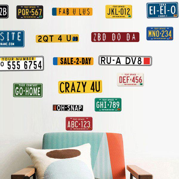 Creative Car Number Living Room Wall Stickers 21cm 7cm rescue dogs make the best pets fashion text creative personality stickers car stickers c3 0136
