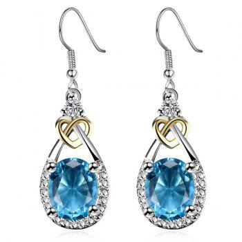 Heart Teardrop Faux Gem Earrings