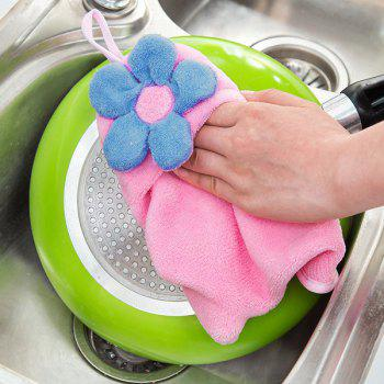 Household Coral Fleece Floral Strong Absorbent Hands Towel