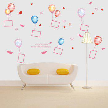 Balloon Photo Frame PVC Removable Wall Stickers