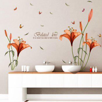 Floral Butterfly PVC Removable Wall Stickers