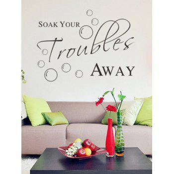 English Proverb Removable Decorative Wall Stickers - BLACK