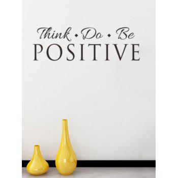 Think Proverb Removable Decorative Wall Stickers