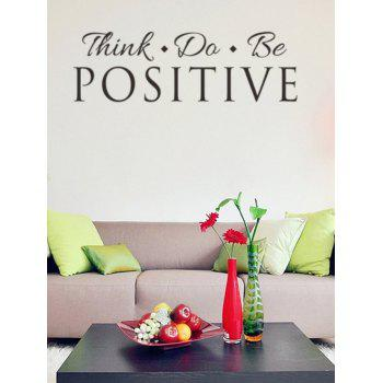 Think Proverb Removable Decorative Wall Stickers - BLACK