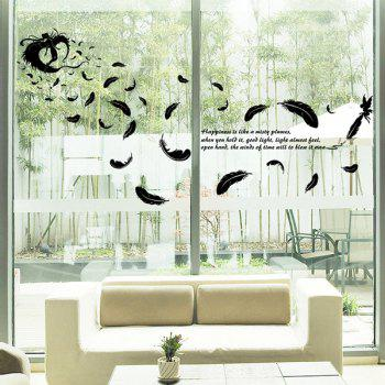 Feather Removable Glass Window DIY Wall Stickers