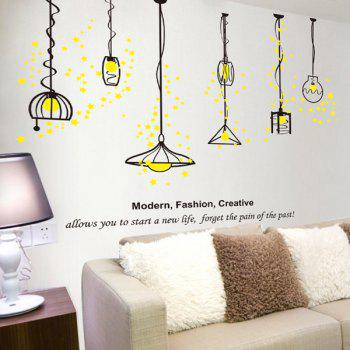 Droplight Design Removable Wall Stickers - BLACK