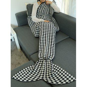 Houndstooth Pattern Wrap Mermaid Tail Blanket