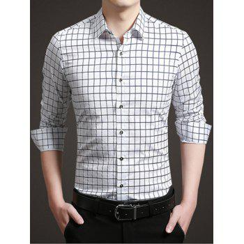 Long Sleeve Button Up Grid Shirt
