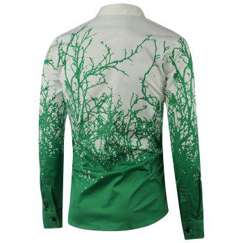 Tree Branch Printed Long Sleeve Shirt - 3XL 3XL