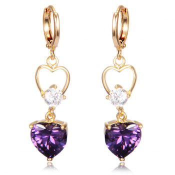 Heart Shape Faux Crystal Drop Earrings