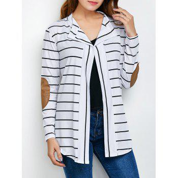 Elbow Sleeve Long Stripe Cardigan