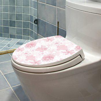 Bathroom Decor Floral Toilet Lid Wall Sticker