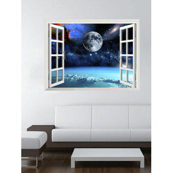 3D Universe Space Window Design Wall Stickers