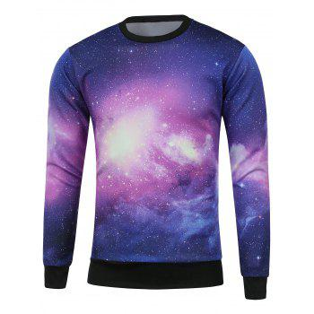 Galaxy Printed Crew Neck Sweatshirt