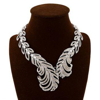 Rhinestone Vintage Feather Necklace