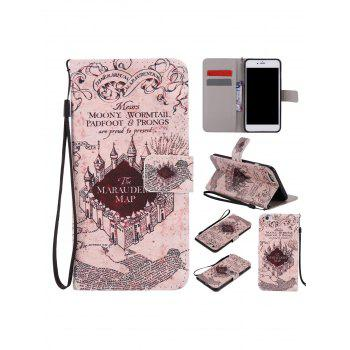 Vintage Castle Colored Drawing PU Leather Phone Case For iPhone