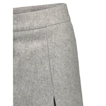 Wool Blend Capri Wide Leg Scrub Pants - S S