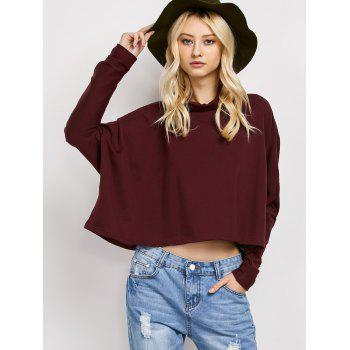 Asymmetric Bat-Wing Sleeve Loose T-Shirt
