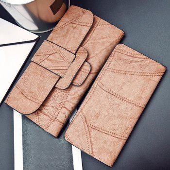Faux Leather Stitching Wallet