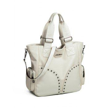 Studded Double Pocket Tote Bag