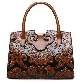 PU Leather Embossed Handbag