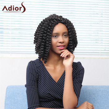 Adiors Middle Parting Afro Curly Short Synthetic Wig