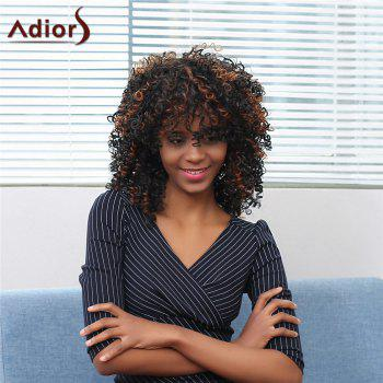 Adiors Inclined Bang Medium Colormix Afro Curly Synthetic Wig