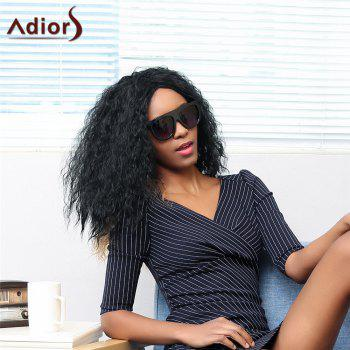 Adiors Long Shaggy Side Parting Curly Double Color Synthetic Wig - COLORMIX