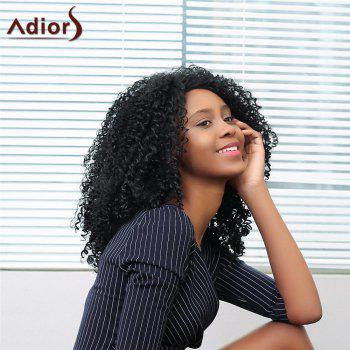 Adiors Side Parting Medium Shaggy Afro Curly Synthetic Wig