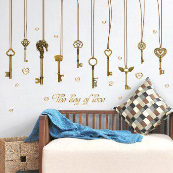 The Key of Love Pendant PVC Removable Wall Stickers