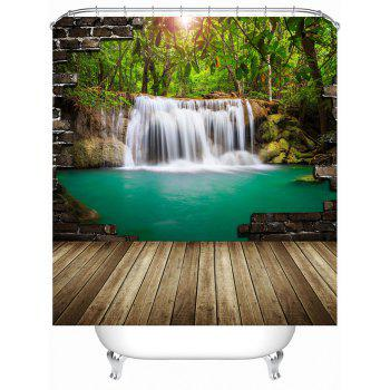 Nature Landscape Shower Curtain with Hooks