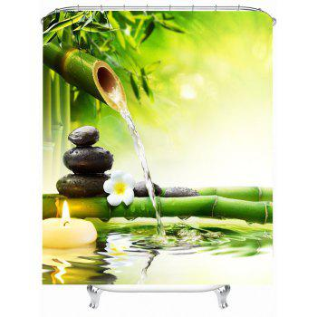 Nature Scenery Shower Curtain with Hooks