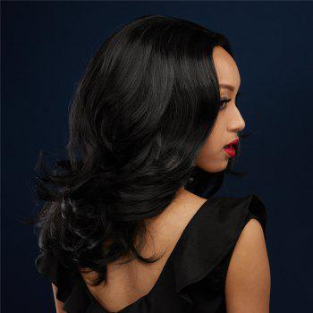 Towheaded Wavy Layered Fashion Black Mixed Centre Parting Women's Synthetic Wig - COLORMIX