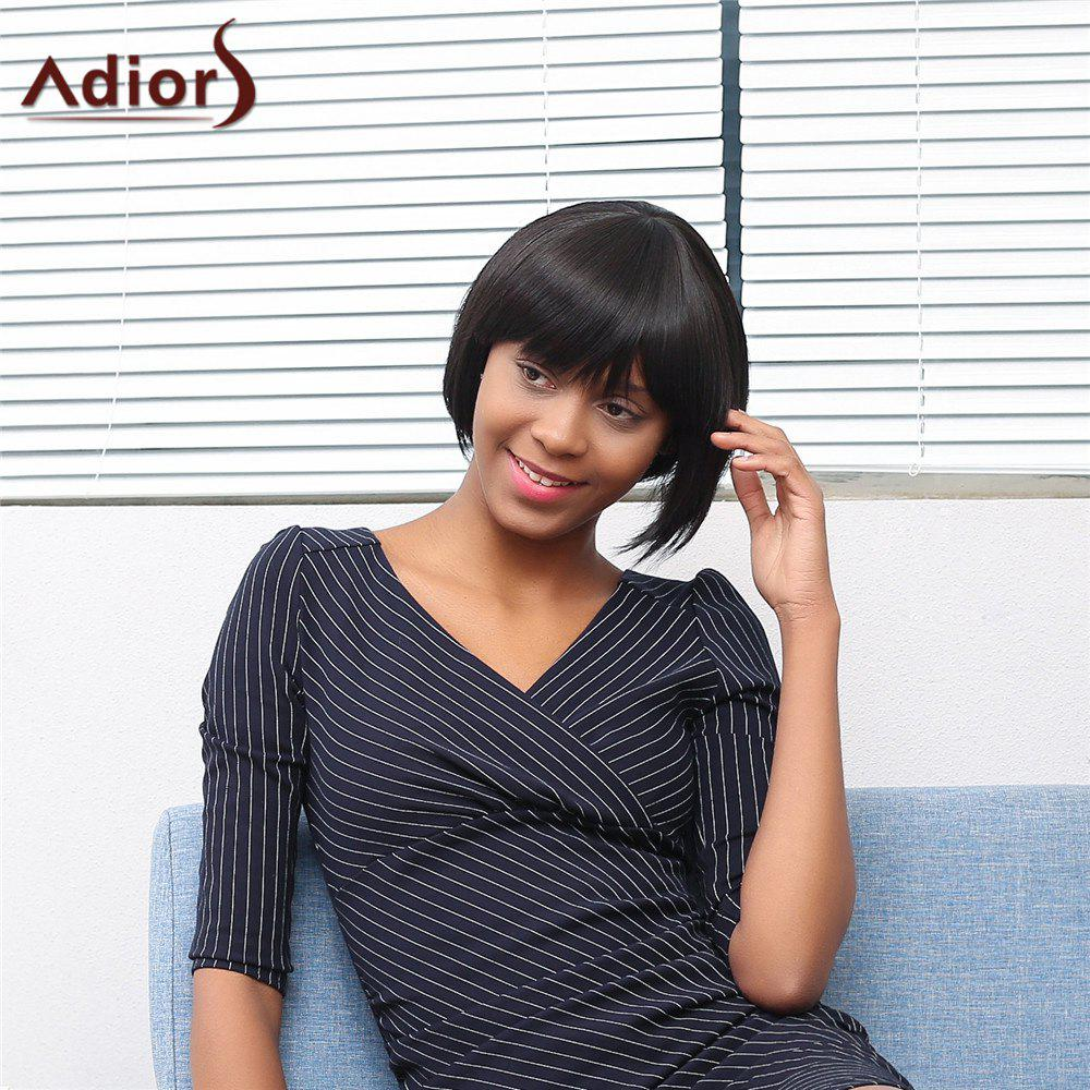 Adiors Oblique Bang Short Silky Straight Bob Synthetic Wig of monsters and men of monsters and men beneath the skin 2 lp