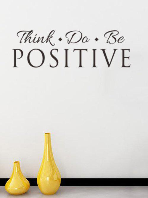Think Proverb Removable Decorative Wall Stickers removable go big or go home proverb room office wall stickers
