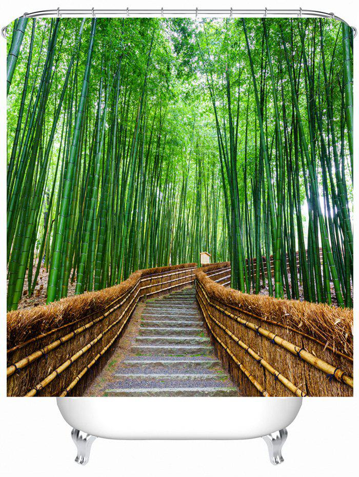 Bamboo Landscape Shower Curtain with Hooks landscape with figures givernyрепродукции моне 30 x 30см